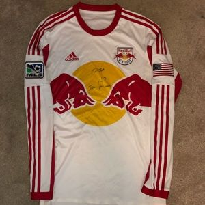 Adidas Authentic MLS New York Red Bulls Home Kit